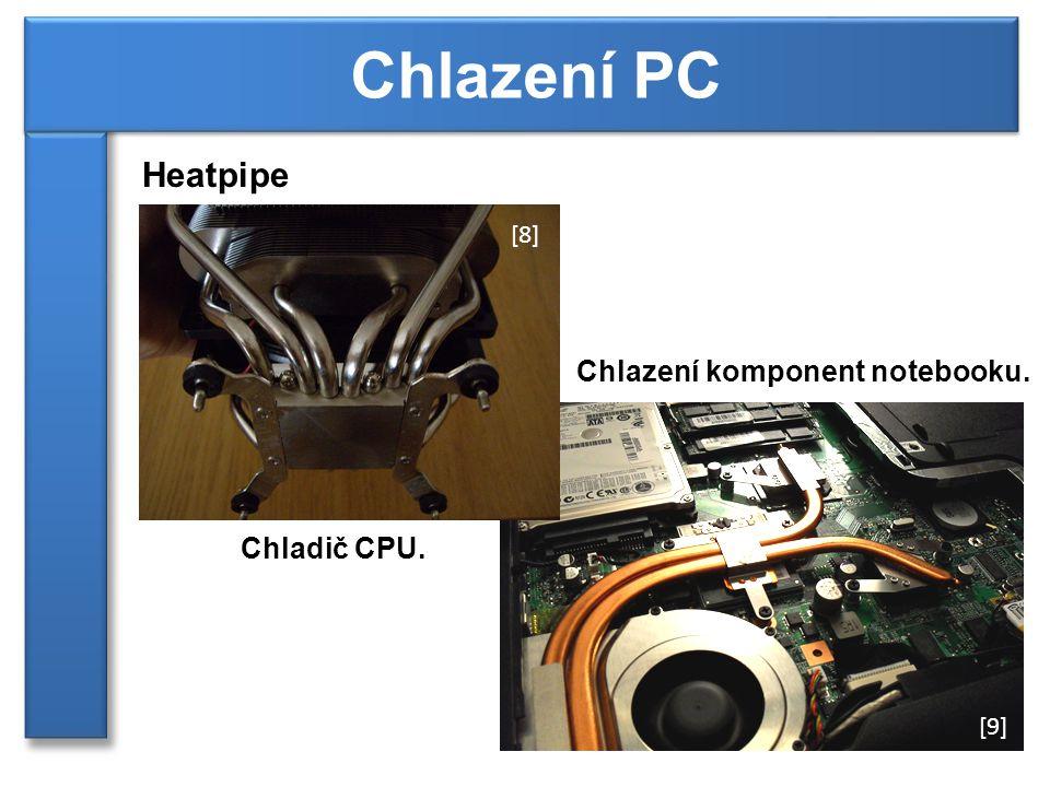 Chlazení PC Heatpipe Chlazení komponent notebooku. Chladič CPU. [8]